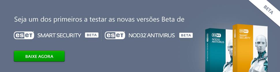Seja um dos primeiros a testar as novas verões BETA v8
